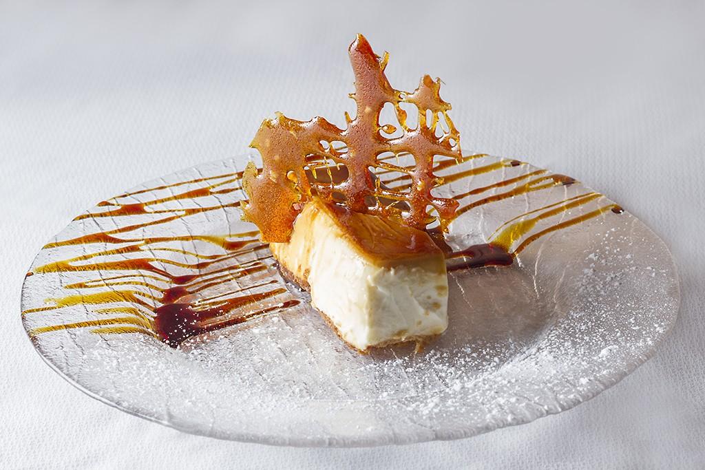 Postre de tarta de queso del Restaurante Carmen